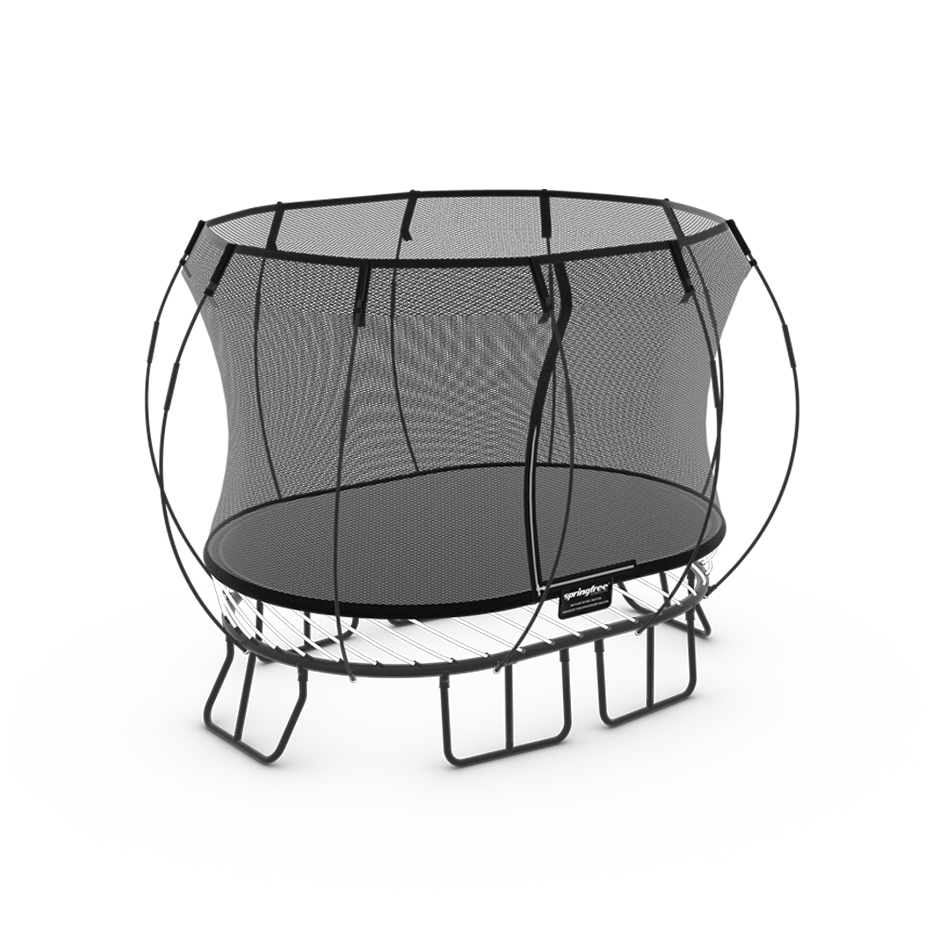 Compact Oval Trampoline